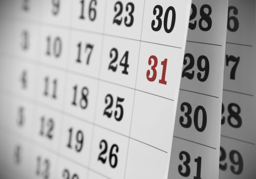 calendario días fértiles