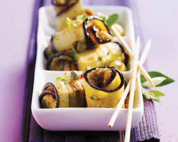 Receta para aumentar la fertilidad: rollitos de berenjena con anchoa y huevo